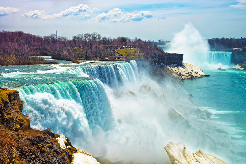 view from Niagara State Park on American Falls