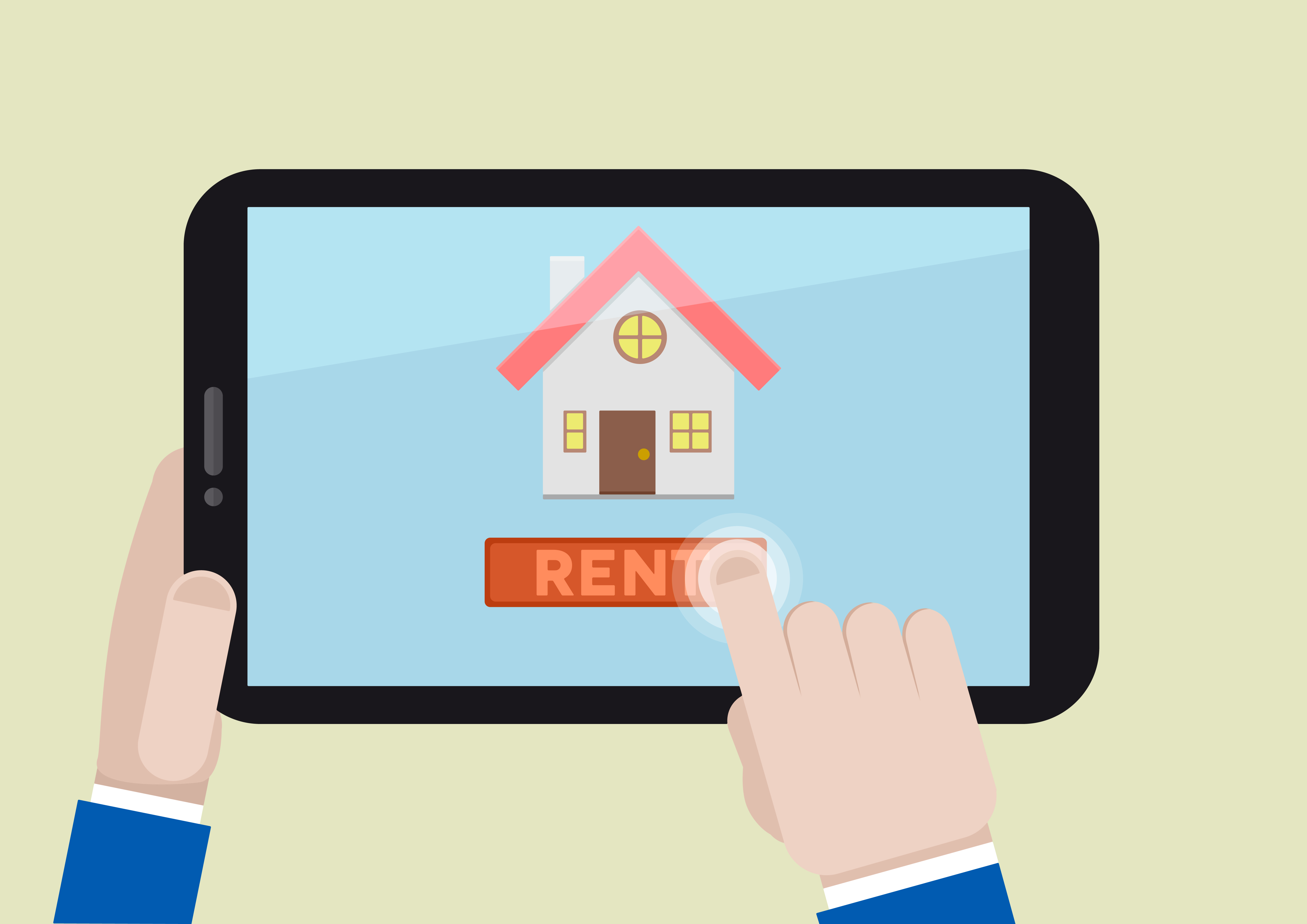 Illustration of renting a house