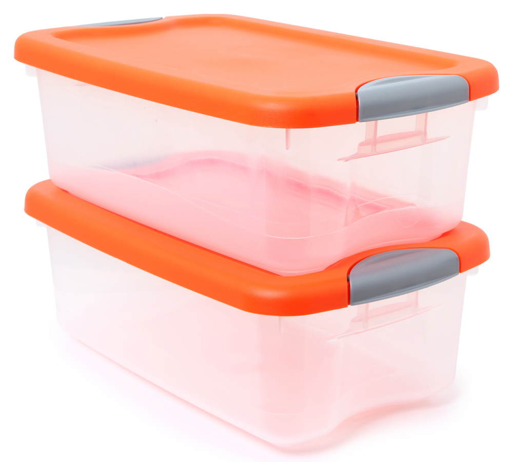 clear plastic storage container bins